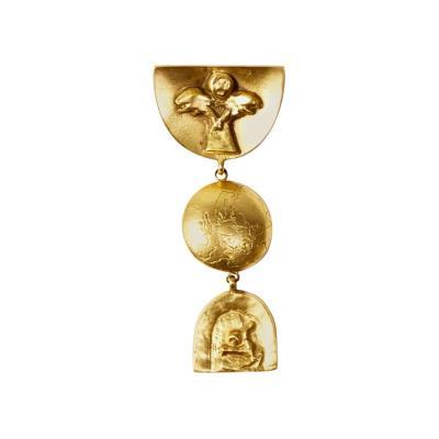 Line Vautrin Bronze Brooch by Line Vautrin