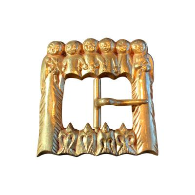 Line Vautrin French Bronze Art Sculptural Buckle Line Vautrin