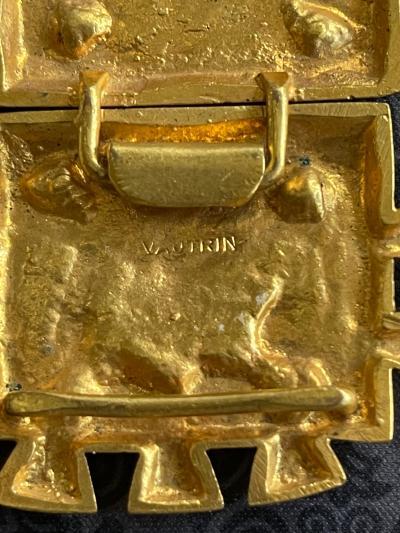 Line Vautrin French Bronze Belt Buckle Line Vautrin
