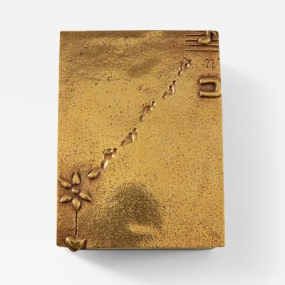 Line Vautrin Gilded bronze box Je taime un peu beaucoup passionn ment