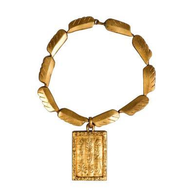 Line Vautrin Gilt Bronze Necklace by Line Vautrin