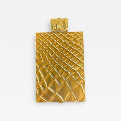 Line Vautrin Large and Rare Gilt Bronze Box Line Vautrin