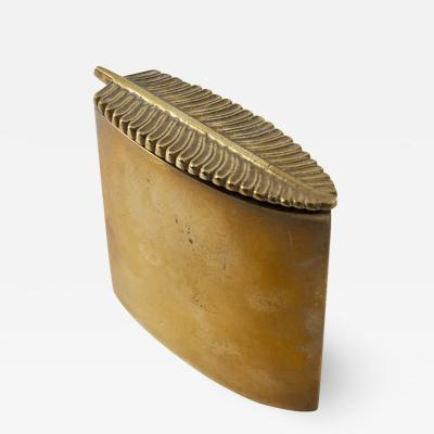 Line Vautrin Line Vautrin France Plume Gilded Bronze Box