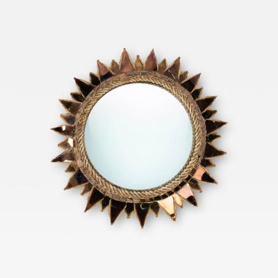 Line Vautrin Line Vautrin French Mirror Soleil A Pointes Dark Bronze Incrusted Mirrors