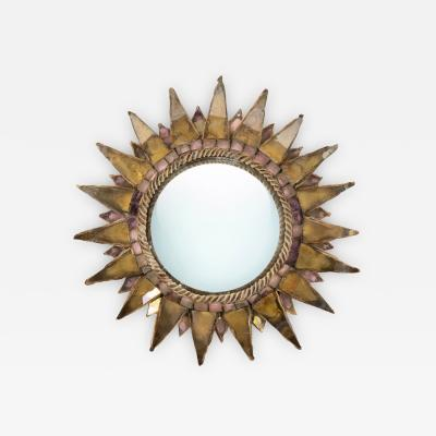 Line Vautrin Line Vautrin French Mirror Soleil A Pointes Dark gold Incrusted Mirrors