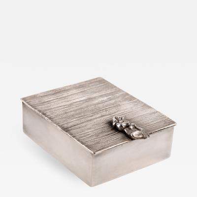 Line Vautrin Line Vautrin La Balayeuse du sacr coeur Silvered Bronze Box