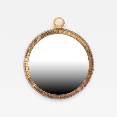 Line Vautrin Pocket watch MIroir Montre Convex Mirror by Line Vautrin France