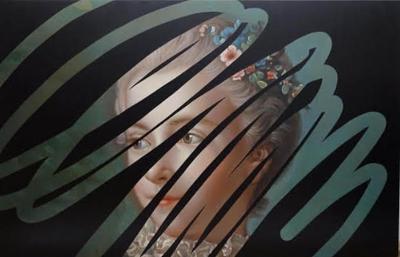 Lino Lago Fake Abstract Black on Francois Boucher