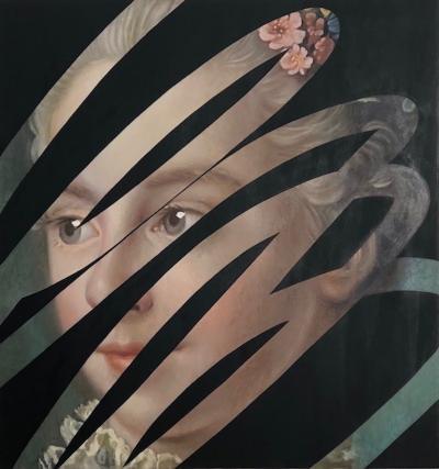 Lino Lago Fake Abstract Black paint on Francois Boucher