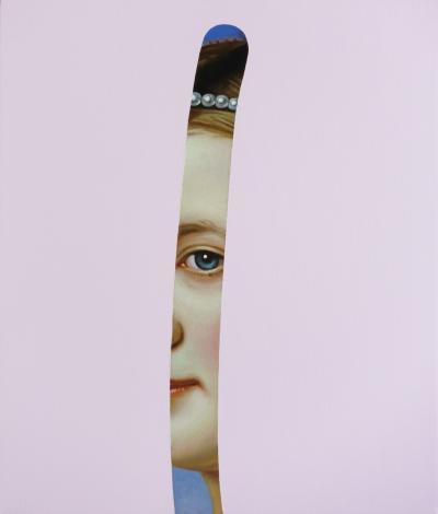 Lino Lago Fake Abstract Pink on J K Stieler