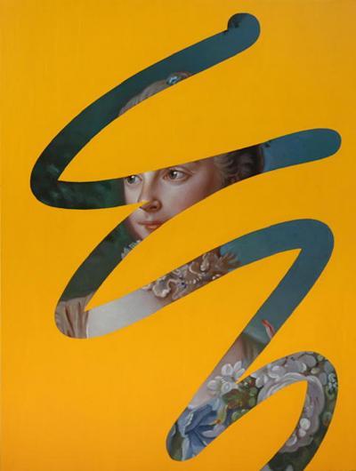 Lino Lago Fake Abstract Yellow on Francois Boucher