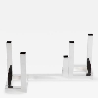 Lino Sabattini Angolo Collezione of Silver Plated Abstract Geometric Forms by Sabattini
