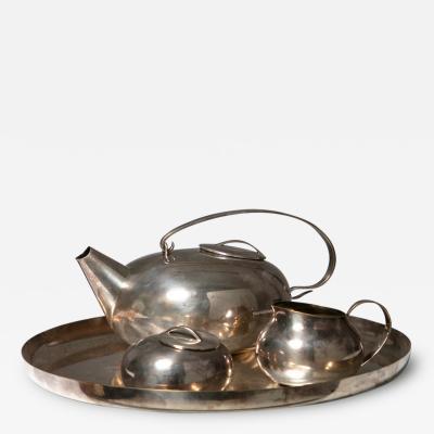 Lino Sabattini Boule Tea Set by Lino Sabattini for Christofle