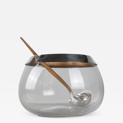 Lino Sabattini Bowl and Ladle by Lino Sabattini for Sabattini Argenteria