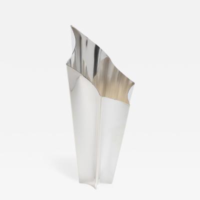 Lino Sabattini Exquisite Silver Plate Alaska Vase by Lino Sabattini