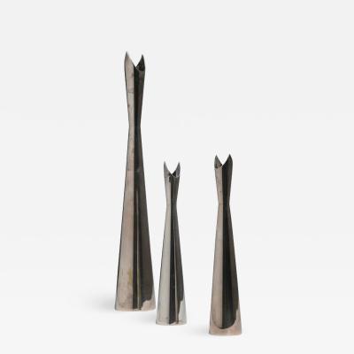 Lino Sabattini Set of Three Cardinale Vases by Lino Sabattini for Christofle