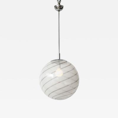 Lino Tagliapietra Lino Tagliapietra Murano Glass Pendent Lamp 1970 Italy