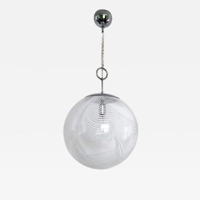 Lino Tagliapietra Spheric Murano Glass Pendant Lamp by Lino Tagliapietra for La Murrina 1970s
