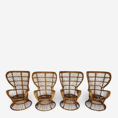 Lio Carminati Lio Carminati Biancamano Wicker Chair for Pierantonio Bonacina Italy 1950s
