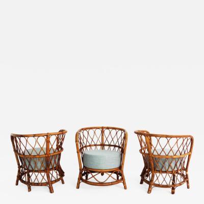 Lio Carminati Set of 3 Veranda Armchairs by Lio Carminati