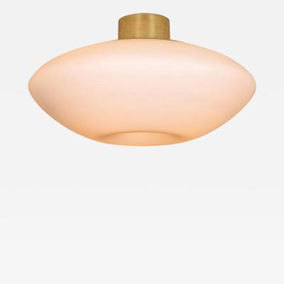 Lisa Johansson Pape Large 1950s Lisa Johansson Pape Glass and Brass Ceiling Lamp for Orno