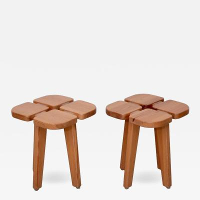 Lisa Johansson Pape One of Two Pairs of Lisa Johansson Pape Stools Finland 1950