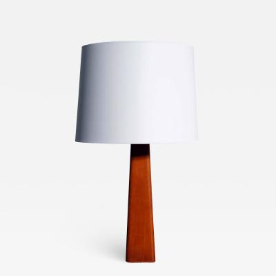 Lisa Johansson Pape Tall Leather wrapped Table Lamp by Lisa Johansson Pape
