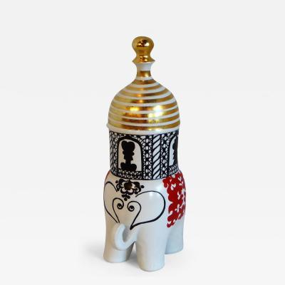 Lisa Larson 1970 Lisa Larson Sculpture Elephant Traffic Series for Gustavsberg Sweden MCM