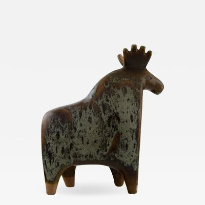 Lisa Larson Large moose in glazed ceramics