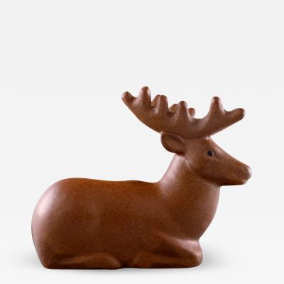 Lisa Larson Rare figure Deer Glazed ceramics
