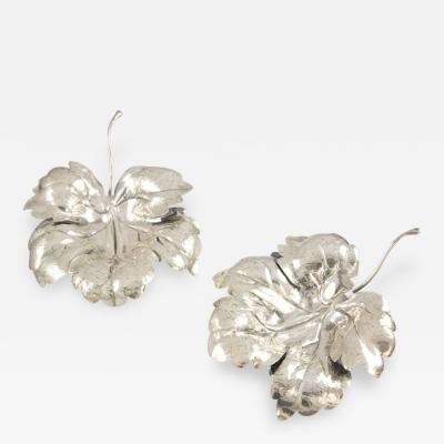 Lisi Brothers Pair of Sterling Silver Leaves by Lisi Brothers