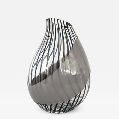 Livio Seguso Livio Seguso Striped Murano Art Glass Vase