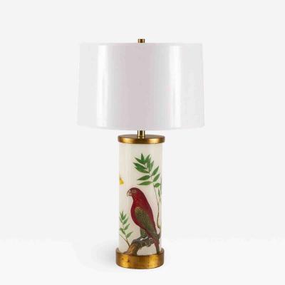 Liz Marsh Liz Marsh Red Lori Eden Lamp with White Paper Shade