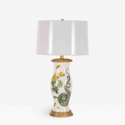 Liz Marsh Liz Marsh Rose and Serpent Eden Lamp with White Paper Shade