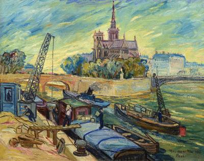 Ljuba Naumovitch Notre Dame from the Seine