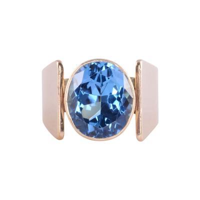 London Blue Topaz Ring Size 9 5
