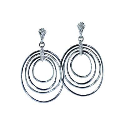 Long 18K and Diamond Earrings