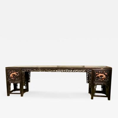 Long Carved Chinese Altar Table c 1850
