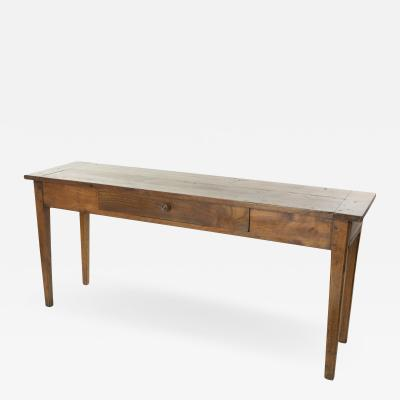 Long Narrow French Fruitwood Server With Single Drawer Circa 1850