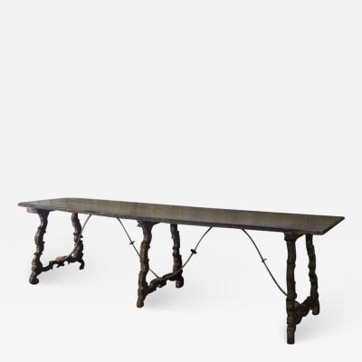 Long Narrow Spanish Baroque 17th century Trestle Table