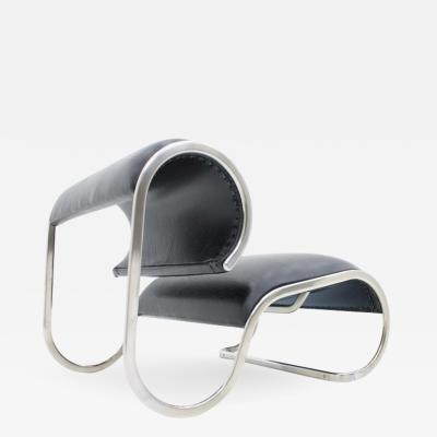 Loop Lounge Chair Slipper Chair 1970s
