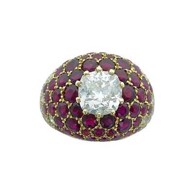 Lorenz B umer Lorenz Baumer Diamond Ruby Yellow Gold Ring