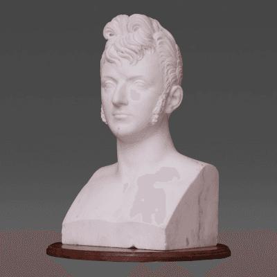 Lorenzo Bartolini White Marble Bust of Prince Carmillo Borghese 1775 1832