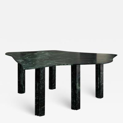 Lorenzo Bini Sculptural Green Marble Coffee Table by Lorenzo Bini