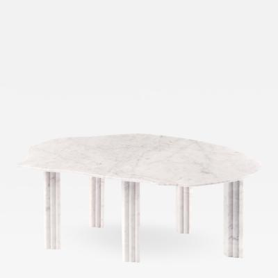 Lorenzo Bini Sculptural White Marble Coffee Table Lorenzo Bini