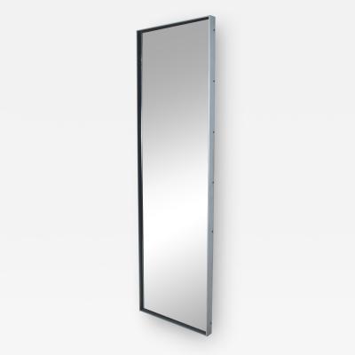 Lorenzo Burchiellaro Tall Modern Floor Length Mirror Aluminum Frame after Lorenzo Burchiellaro 1970s