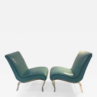 Lorin Jackson Pair of Grosfeld House Graceful Lucite Lounge Chairs designed by Lorin Jackson