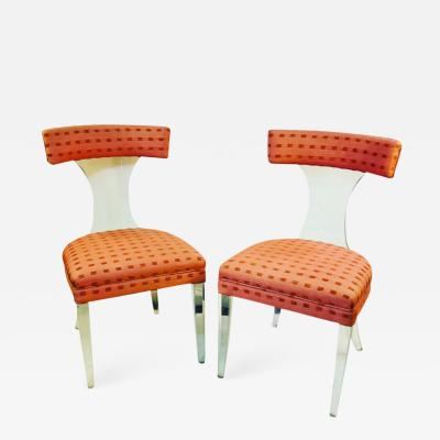 Lorin Jackson RARE PAIR OF GLAMOROUS LUCITE CHAIRS BY LORIN JACKSON FOR GROSFELD HOUSE