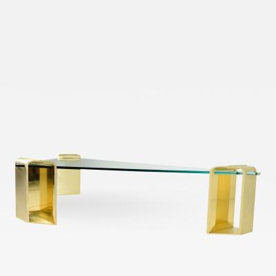 Lorin Marsh Large Stunning Solid Brass Cocktail Table by Lorin Marsh 1970s