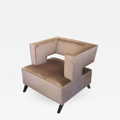 Lost City Arts Custom Cubist Lounge Chair